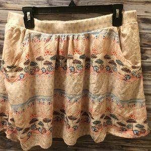 Lauren Conrad Flowey Skirt